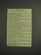 1914 Grape-Nuts Cereal Ad - Less Meat
