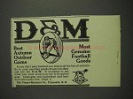 1914 Draper-Maynard D&M Football Goods Ad