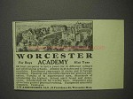 1914 Worcester Academy Ad - For Boys, 81st Year