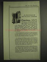 1917 Pullman Company Railroad Car Ad - Courtesy