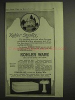 1917 Kohler Ware Ad - Quality - Bath Tub, Sink