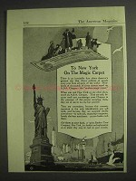 1917 A.B.A. Traveler's Cheques Ad - To New York