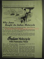 1917 Indian Motocycle Ad - Why Jones Bought