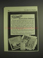 1917 Whitman's Old Time Favorites Chocolate Ad