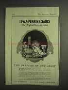 1917 Lea & Perrins Worcestershire Sauce Ad - Feature of the Feast