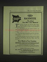 1917 Du Pont Rayntite Ad - Ideal One-Man Top Material