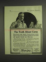 1917 Bauer & Black Blue-Jay Ad - Truth About Corns