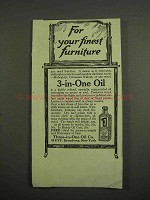 1917 3-in-one Oil Ad - For Your Finest Furniture