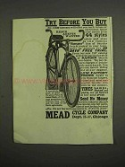 1917 Mead Ranger Bicycle Ad - Try before You Buy