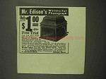 1917 Edison Phonograph Ad - Wonderful