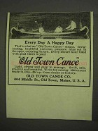 1917 Old Town Canoe Ad - Every Day a Happy Day