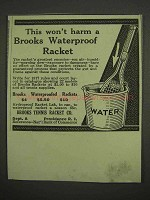 1917 Brooks Waterproofed Tennis Racket Ad