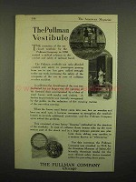 1918 Pullman Railroad Car Ad - The Vestibule