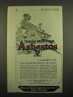 1918 Johns Manville Asbestos Ad - Fire-Safe Shingles
