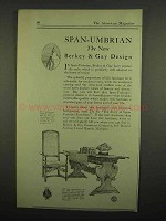 1918 Berkey & Gay Furniture Ad - Span-Umbrian Design