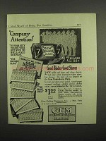 1918 Gem Damaskeene Razor Blade Ad - Company Attention