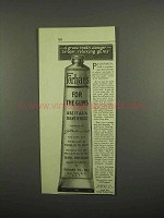 1918 Forhan's Toothpaste Ad - Grave Tooth Danger