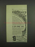 1918 3-in-One Oil Ad - Up Stairs and Down