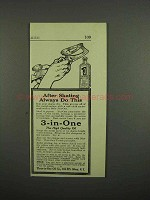 1918 3-in-One Oil Ad - After Skating Always Do This