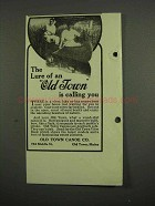 1918 Old Town Canoe Ad - The Lure is Calling You