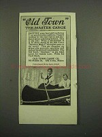 1918 Old Town Canoe Ad - The Master Canoe