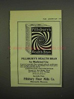 1918 Pillsbury Health Bran Ad - For Medicinal Use