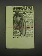 1918 Mead Electric Lighted Ranger Motorbike Ad
