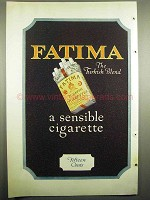 1918 Fatima Cigarettes Ad - The Turkish Blend