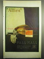 1918 Pall Mall Cigarettes Ad - Allies