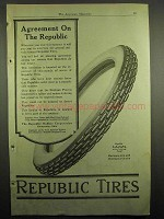 1918 Republic Tires Ad - Agreement on the Republic