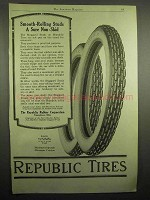 1918 Republic Tires Ad - Smooth-Rolling Studs