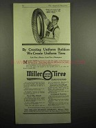 1918 Miller Tires Ad - Creating Uniform Builders