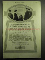 1918 Mimeograph Machine Ad - Quicker Than Bullets