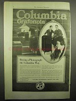 1918 Columbia Grafonola Phonograph Ad