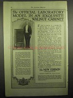 1918 Edison Official Laboratory Model Phonograph Ad