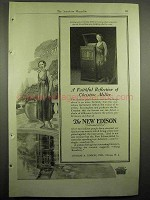 1918 New Edison Phonograph Ad - Christine Miller