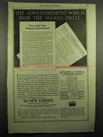 1918 New Edison Phonograph Ad - Advertisment Won