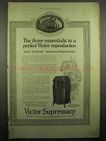 1918 Victor Victrola Phonograph Ad - Three Essentials