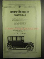 1918 Dodge Brothers Closed Car Ad