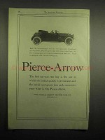 1918 Pierce-Arrow Runabout Car Ad