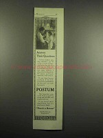 1918 Postum Drink Ad - Answer their questions