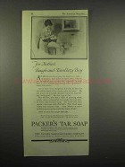1918 Packer's Tar Soap Ad - Rough-and-Tumblety Boy