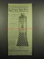 1918 Mennen's Shaving Cream Ad - Men Believed Me