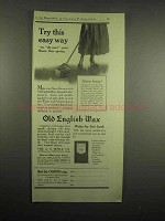 1918 Old English Wax Ad - Try This Easy Way