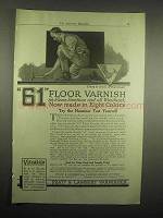 1918 Pratt & Lambert 61 Floor Varnish Advertisement