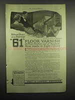 1918 Pratt & Lambert 61 Floor Varnish Ad - Fifteen Years on a Stairway