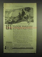 1918 Pratt & Lambert 61 Floor Varnish Ad