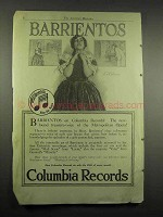 1917 Columbia Records Ad - Mme. Barrientos