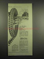1917 Miller Tires Ad - Wouldn't Burn Your Bridges