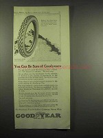 1917 Goodyear Tires Ad - You Can Be Sure
